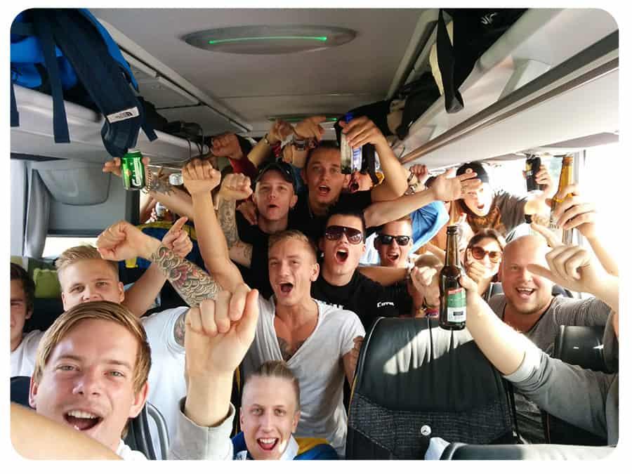 Defqon1 2014 - Bussen