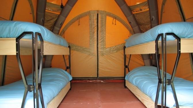 Safari Tent insidan